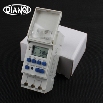 Temporizador digital para carril din TP8A16 electrónico programable semanal microordenador de interruptor de tiempo de 220 V 230 V 6A-30A AC campana