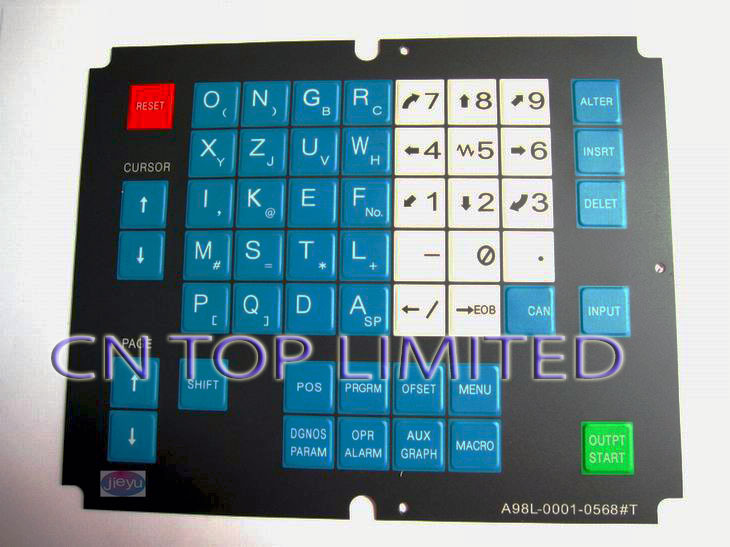 New  operation panel Keypad Membrane  for FANUC A98L-0001-0568#T new membrane keypad operation panel button mask for mp270 6av6542 0ac15 2ax0