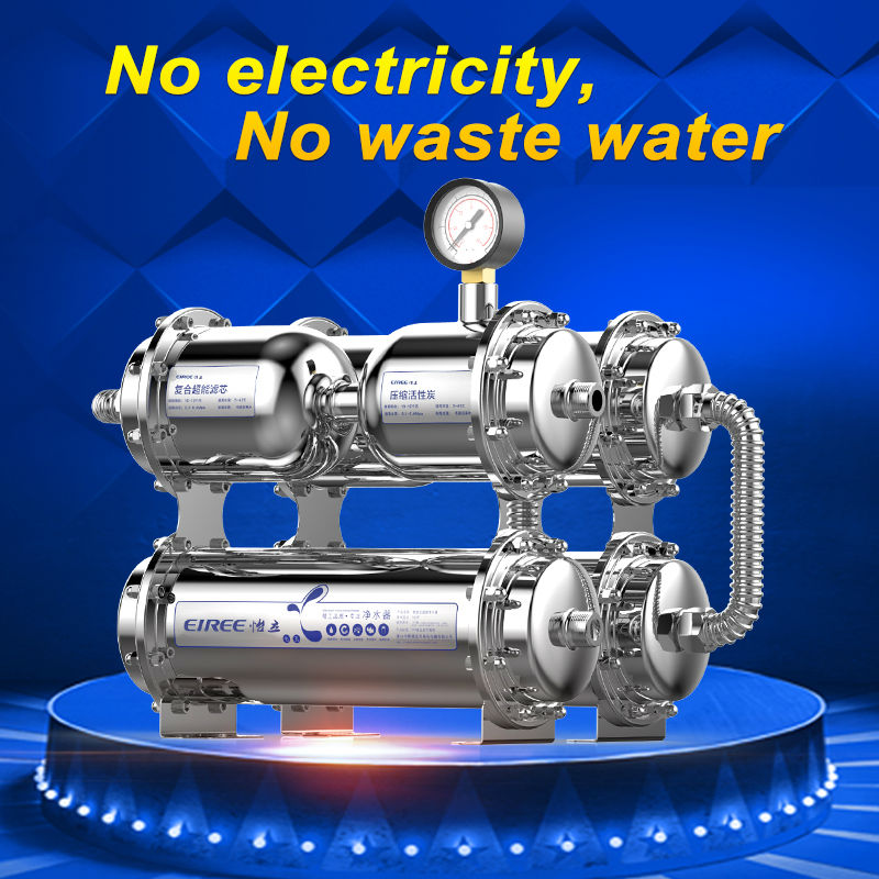 500L flow 6E UF water purifier without electricity and 304 stainless steel housing/kitchen 6e 500l wholesale china import water filter for uf water purifier