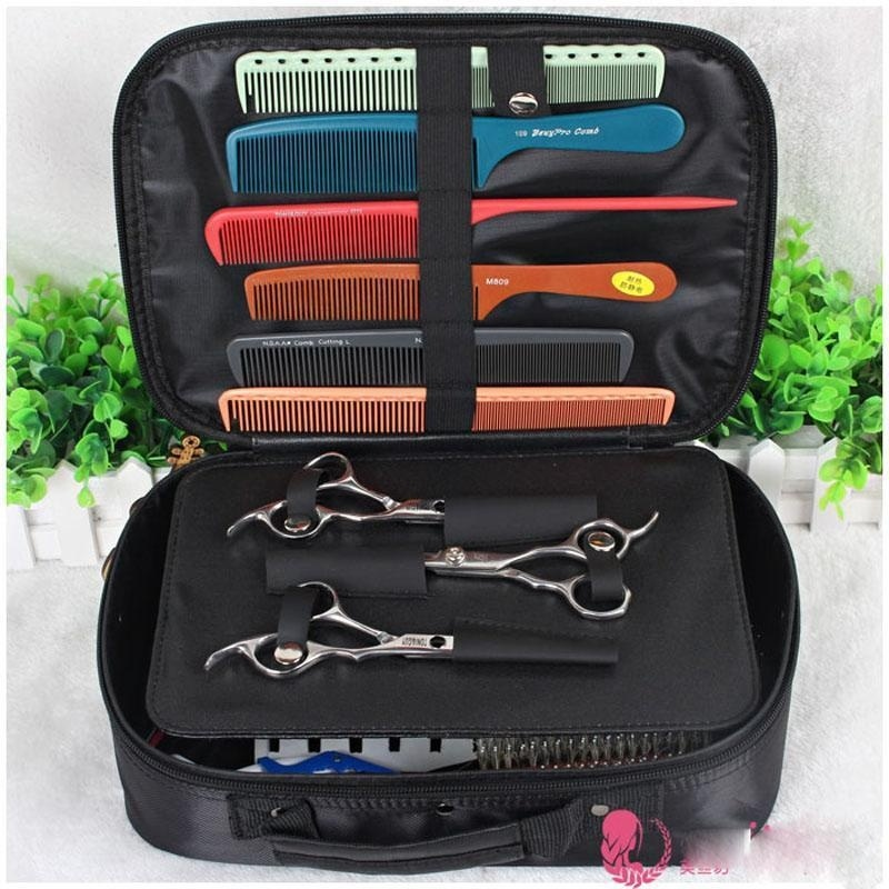 Barber Bag Hairdressing Tool bag Nylon Professional Stylists Hair Scissors Tool Box title=