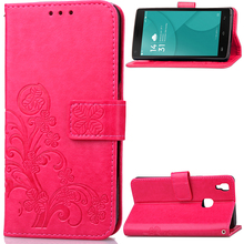 Googee X5max Case 3D Leather Card Holder Stand Magnetic Flip Clover Wallet Cover For Doogee X5 Max Pro Phone Case