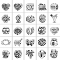 100PCS Silver Pandora Charm Beads Fit DIY Charm Bracelets Bangles Original Fashion Jewelry Berloque Free Shipping 4pcs/style