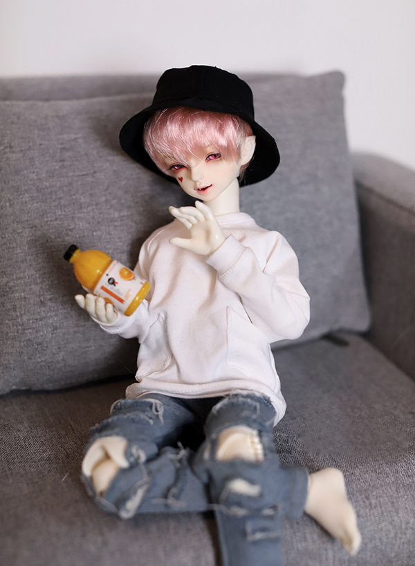 все цены на BJD doll shirt white Hoody loose jointed pockets shirt for 1/3 1/4 1/6 BJD DD SD MSD YOSD doll clothes accessories