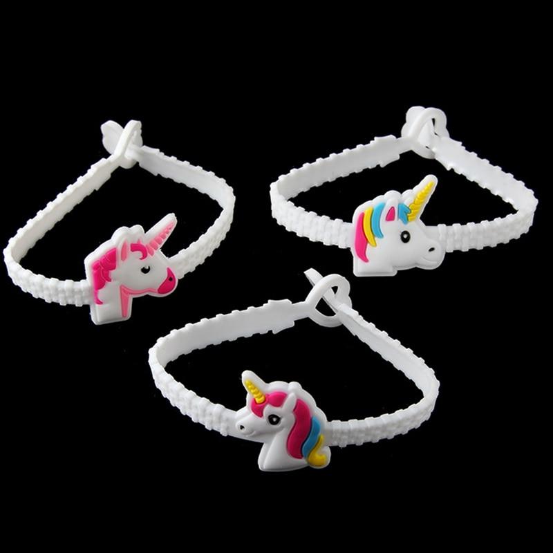3 Teile/satz Kinder Charme Einzigartige Einhorn Armbänder Mädchen Jungen Geburtstag Party Tasche Füllstoffe Kinder Baby Armband Kind Spielzeug