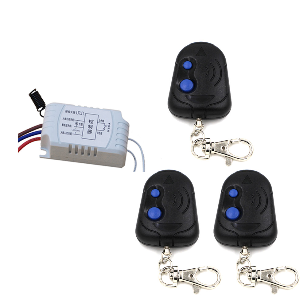 Free Shipping AC220V 1CH RF Wireless Remote Control Switch Simple Operation with 2Buttons 1*Receiver+3*Transmitter 315/433mhzFree Shipping AC220V 1CH RF Wireless Remote Control Switch Simple Operation with 2Buttons 1*Receiver+3*Transmitter 315/433mhz