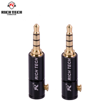 8Pcs Rich Tech Gold-Plated Connector 3.5mm Jack 4Poles Male Plug 3.5mm Audio Stereo Plug Jack Adapter Connector With Screw