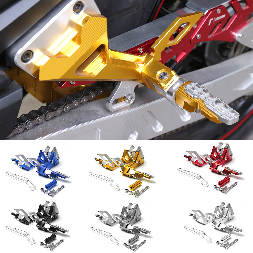 Motorcycle CNC Aluminium Adjustable Rider Rear Sets Rearset Footrest Foot Rest Pegs For Yamaha RC150 LC150 waase moto cnc aluminium adjustable rider rear sets rearset footrest foot rest pegs for kawasaki z750 z750s 2004 2005 2006