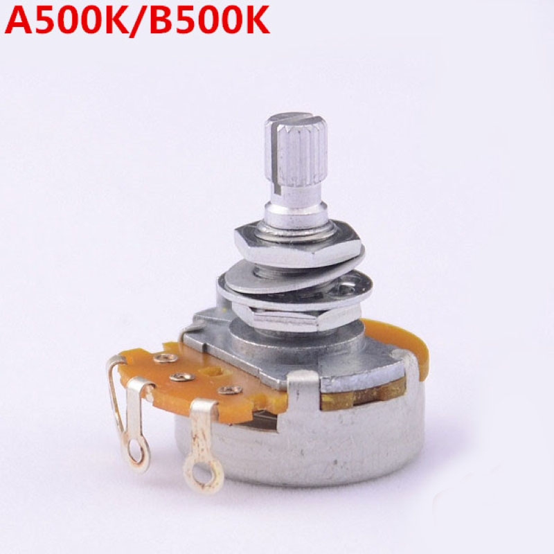 цены 1 Piece Super Quality GuitarFamily A500K/B500K Big Potentiometer(POT) For Electric Guitar (Bass) MADE IN JAPAN ( #6002 )