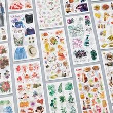 3 листа/упаковка путешествие и еда винтажные декоративные наклейки из бумаги васи Скрапбукинг палочки этикетки канцелярские наклейки для дневника, альбома