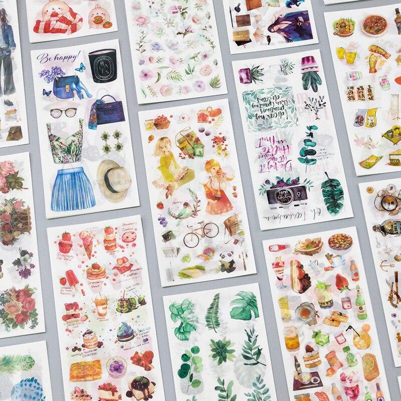3 Pcs/Set Journey and Food Vintage Decorative Washi Stickers Scrapbooking Stick Label Diary Stationery Album Stickers journey journey original album classics 3 cd