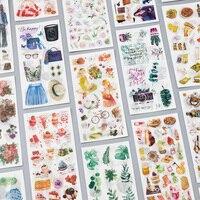 3 Pcs/Set Journey and Food Vintage Decorative Washi Stickers Scrapbooking Stick Label Diary Stationery Album Stickers Stationery Stickers