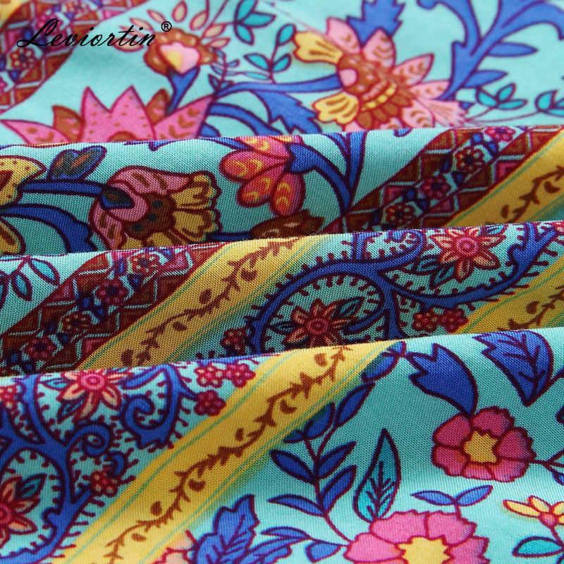 Leviortin дизайнерский комбинезон высокого качества Женский цветочный комбинезон с поясом богемный без бретелек цветочный принт в стиле бохо пляжный комбинезон