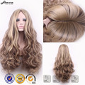 Free Shipping European Hairstyles Blonde Brown Mixed Wig Middle Part Long Wavy Curly Natural Hair Wigs for Women Synthetic Wig