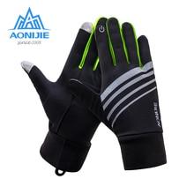 AONIJIE M51 мужские и женские зимние спортивные перчатки с сенсорным экраном, термофлисовые перчатки для бега, бега, пешего туризма, велоспорта, катания на лыжах