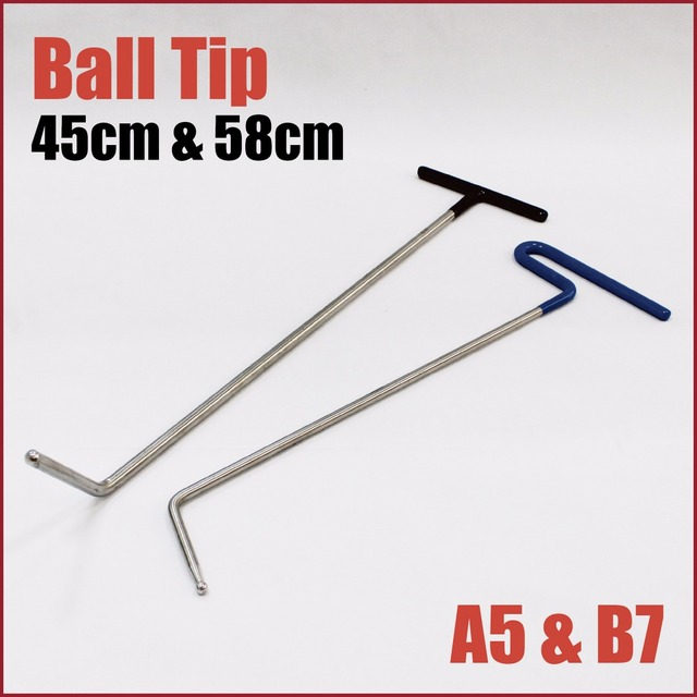 Pdr Dent Rods Ball Tip Right Hand Stainless Steel Brace Single Bend Paintless Repair Hook