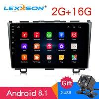 9 Android 8,1 автомобиль радио стерео 2 г + 16 для Honda CRV 2008 2009 2010 2011 емкостный сенсорный HD 1024x600 gps Bluetooth FM AM 2USB