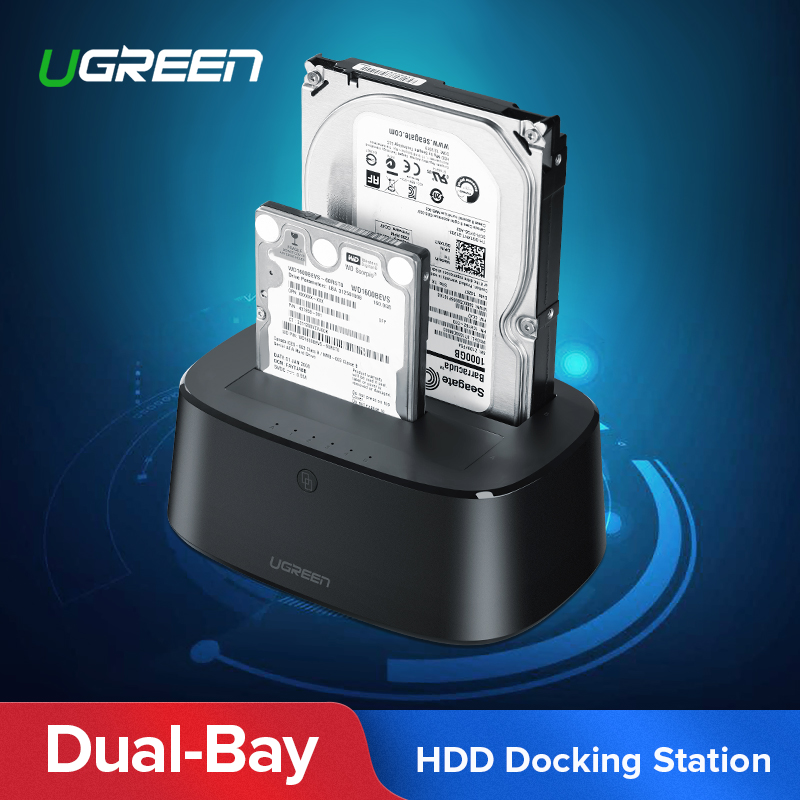 Ugreen HDD Docking Station SATA to USB 3.0 Adapter for 2.5 3.5 SSD Disk Case HD Box Dock Hard Drive Enclosure Docking Station(China)