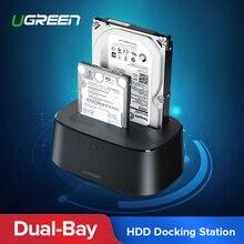 Ugreen HDD док-станция SATA к USB 3,0 адаптер для 2,5 3,5 SSD диск Корпус HD коробка док-станция корпус жесткого диска док-станция