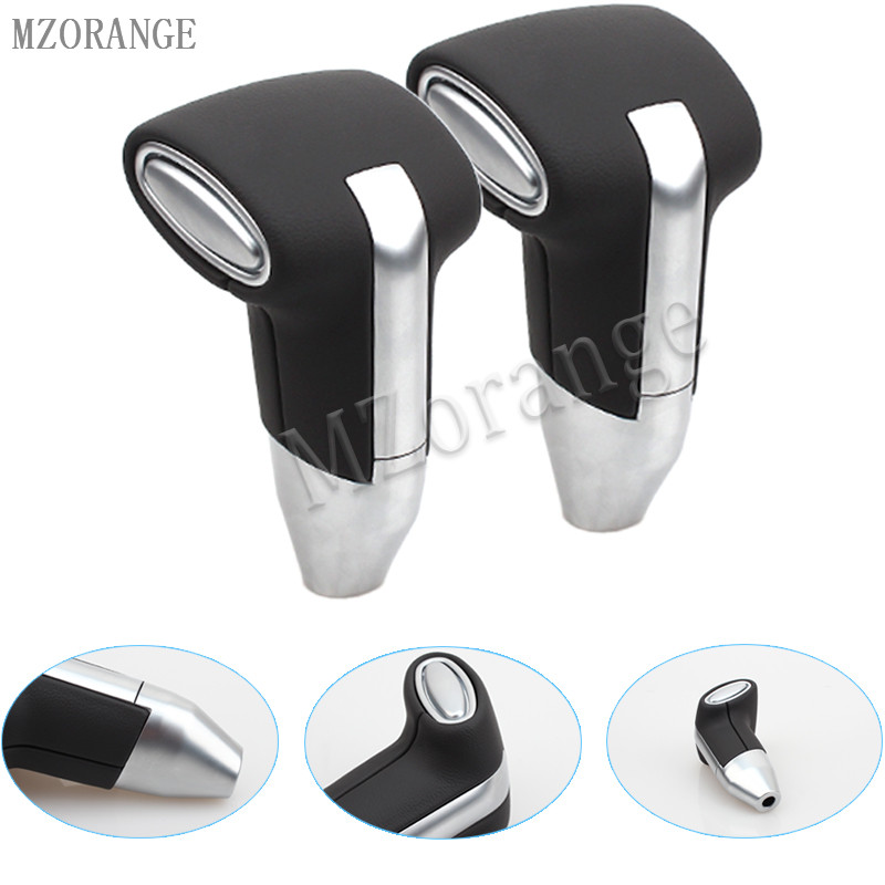 MZORANGE 1 PCS Gear Shift Knob New Automatic Transmission Leather+Chrome For Toyota Camry for Rav4 for Corolla Ex Gear Head CARMZORANGE 1 PCS Gear Shift Knob New Automatic Transmission Leather+Chrome For Toyota Camry for Rav4 for Corolla Ex Gear Head CAR