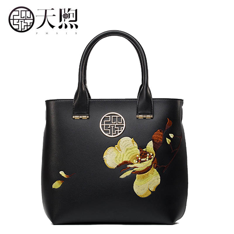 New women Pu Leather bags fashion embroidery luxury tote handbags designer women bag leather handbags Crossbody bags new women leather bags fashion embroider flowers luxury tote handbags designer women bag leather handbags crossbody bags