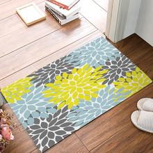 Multicolor Dahlia Pinnata Flower Floral Pattern Customized Door Mats Indoor Kitchen Floor Bathroom Entrance Rug Mat Bath(China)
