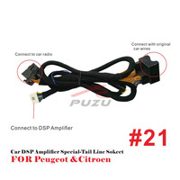 Car DSP Amplifier ISO special tail line socket for peugeot & citroen