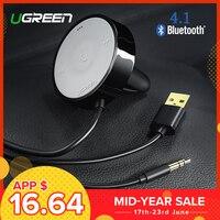 UGREEN Bluetooth приемник 4,1 Беспроводной 3,5 мм адаптер громкой связи Bluetooth автомобильный комплект Bluetooth аудио приемник для динамика автомобиля сте...