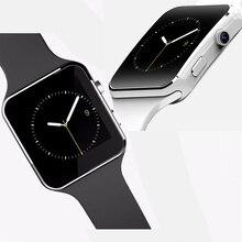 Neue ankunft X6 smart uhr 1,54 zoll IPS HD touchscreen Bluetooth smartwatch mit 1.3MP kamera für android iphone freisprecheinrichtung