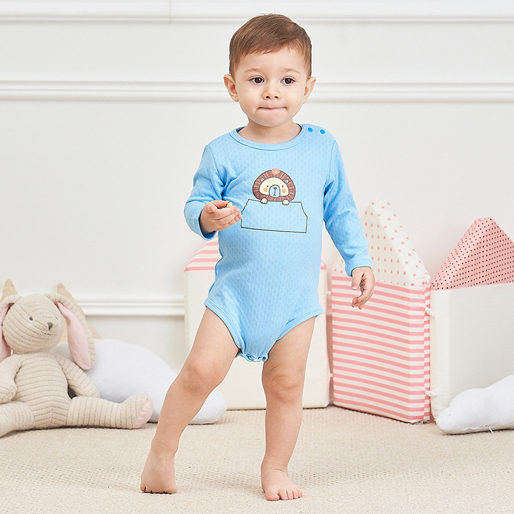 Spring Newborn Baby Climbing clothes 100% Cotton Long Sleeve Onesies One-Pieces Baby Baby triangle romper Soft texture