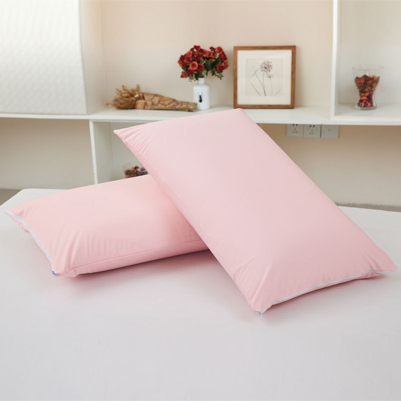 <font><b>50*70</b></font> Letter Zipper Bamboo Fiber Waterproof <font><b>Pillowcase</b></font> Protector for Bed Bug Smooth Anti-mite Bed Wetting White Pillow Cover image