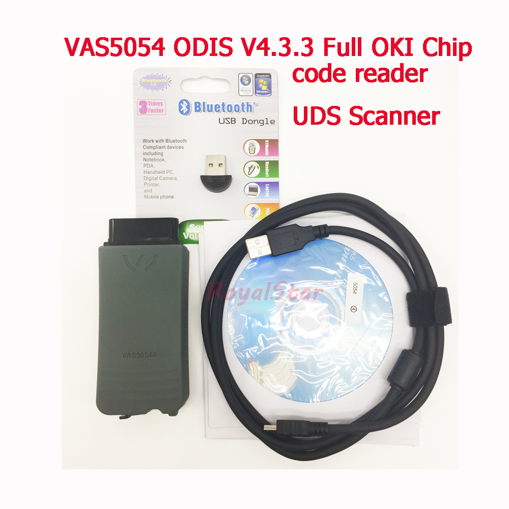 High Quality universal VAS5054 ODIS V4.3.3 Full OKI Chip Auto OBD2 Diagnostic Tool VAS 5054A Bluetooth code reader UDS Scanner perfect vas 5054a with oki full chip amb2300 bluetooth adapter support uds obd2 car diagnostic detector tool dhl free