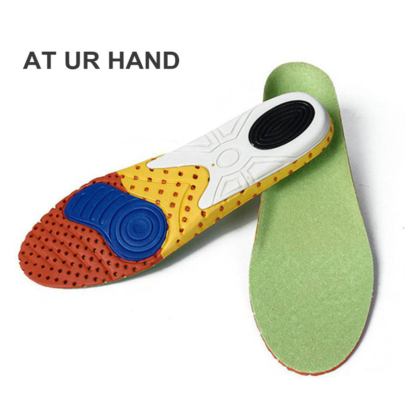 New 1pair Orthotic Insole EVA Insoles Flat Foot Shock Absorbing Gel Pad Shoe Cushion Feet Pads Feet Health Care Pad