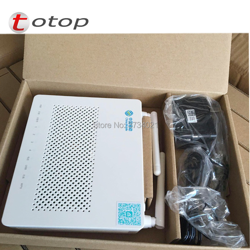 20pcs/lot 100% Original HS8545M GPON ONU 1GE+3FE+1TEL+USB+WIFI Optical Line Terminal ONT ONU, English Firmware