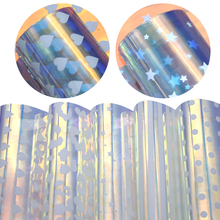20*34 см прозрачный голографический лист ПВХ геометрический прозрачный виниловый лист DIY Craft, 1Yc7203