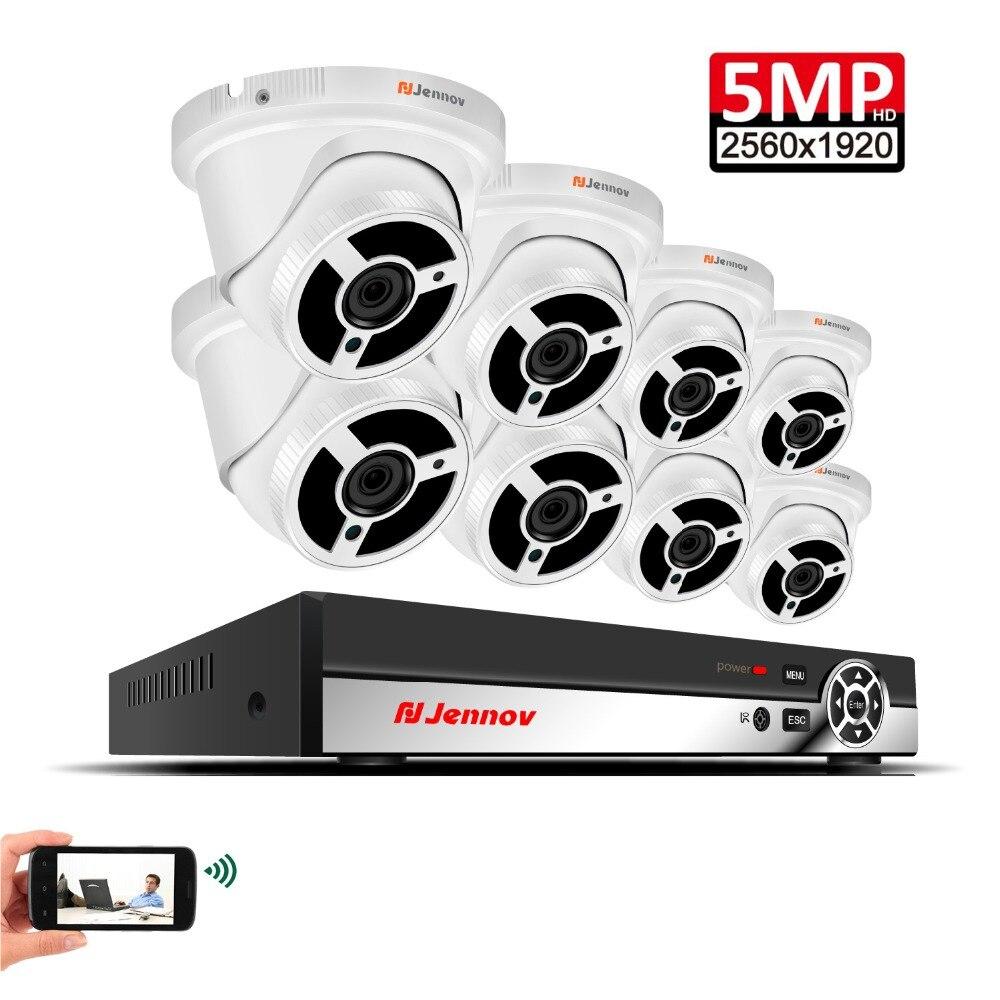 8CH 5MP Security Camera System Vedio Surveillance Camera POE CCTV Kit H.265 Dome P2P NVR Kit Night View HD Waterproof APP Danala цена