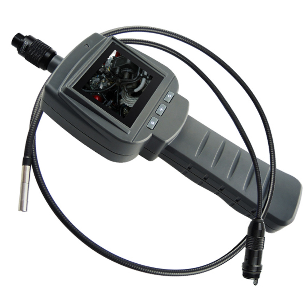 5.5mm Camera 2.4 HD LCD Endoscope Snake Scope 1M Cable Inspection 4 LED Industrial Borescope IP67 Rotation VGA CMOS Sensor gl9008 8mm endoscope ip67 waterproof with colorful lcd monitor camera head inspection av handheld cmos