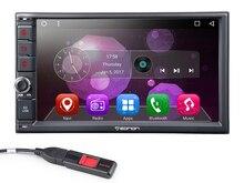 """7 """"ОС Android 6.0 двойной din автомобильных мультимедийных 2 DIN Автомобильный навигатор и два Дин Радио с видео выход от все режимы Поддержка"""
