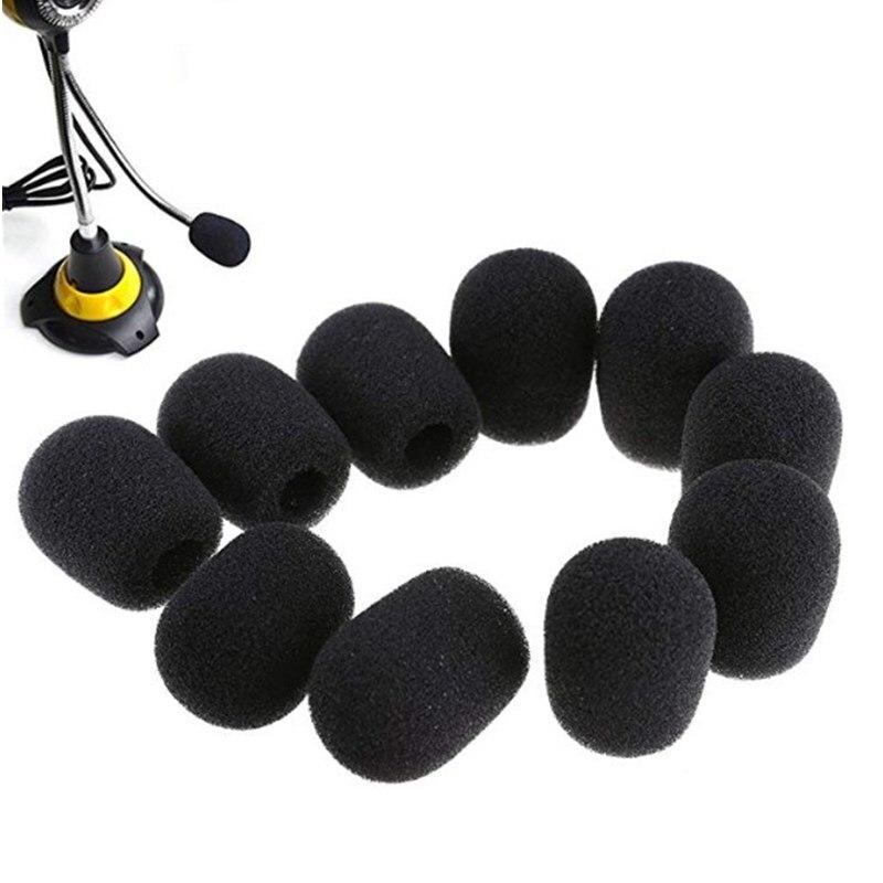 Durable 10Pcs Sponge Mini Microphone Windscreens Mic Cover Blue 28 x 22 x 8mm