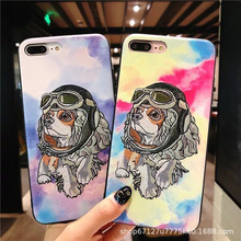 Tide girl style cute dog iphone XS max embroidered phone case for 6S / 7/8 plus iPhone XR