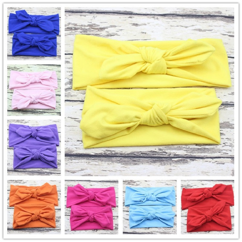 Naturalwell Mom and baby Turban headband Girls Hair Accessories Kids Infant Headwrap Cotton Headwear for Photo Prop HB011S цена