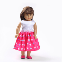 Fashion Doll Dress Shining Star Pattern For 18 Inch American Girl Doll Clothes AG560
