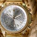 De Primeras Marcas de lujo Famoso MG. ORKINA Reloj de Oro Relojes de Los Hombres Reloj de La Manera 2016 ClockQuartz Reloj de Pulsera Relogio masculino