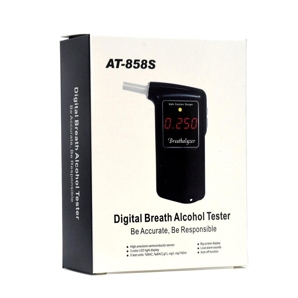 2 pièces/2019 greenwon AT-858S LCD numérique testeur d'haleine d'alcool testeurs de tuyaux accessoires de voiture médicale compteur d'alcool pour la conduite