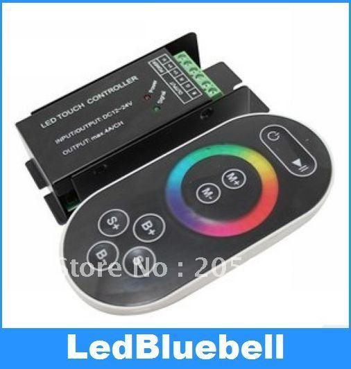 free shipping RF Wireless LED RGB Controller 12V 12A 144W Touch wireless remote control  [LedBluebell ]