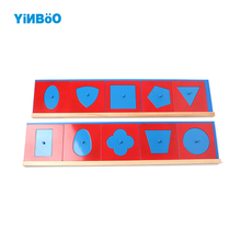 Baby Toy Montessori Metal Geometrical Shapes Insets for Early Childhood Education Preschool Training Learning Professional
