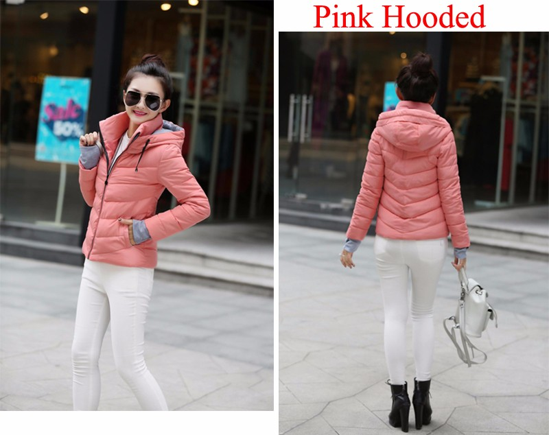 Winter Jacket Women Parkas Thicken Outerwear solid hooded Coats Short 40