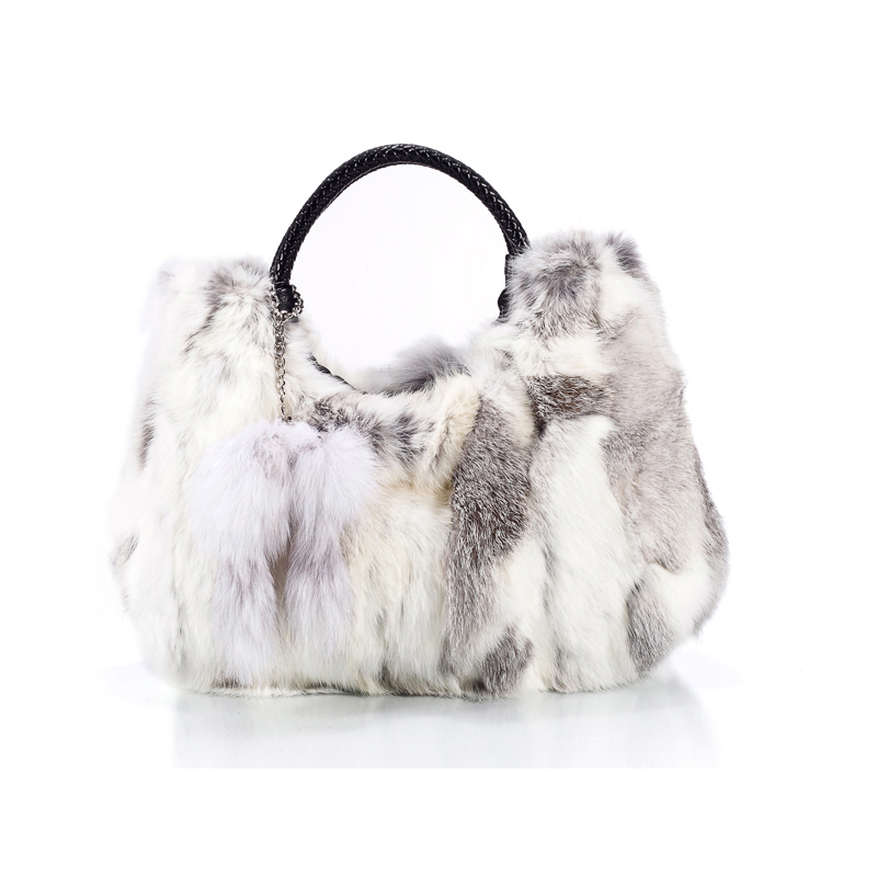 Autumn and Winter Fur Fashion Real Rabbit Bag Handbag Shoulder Bag Rabbit Fur