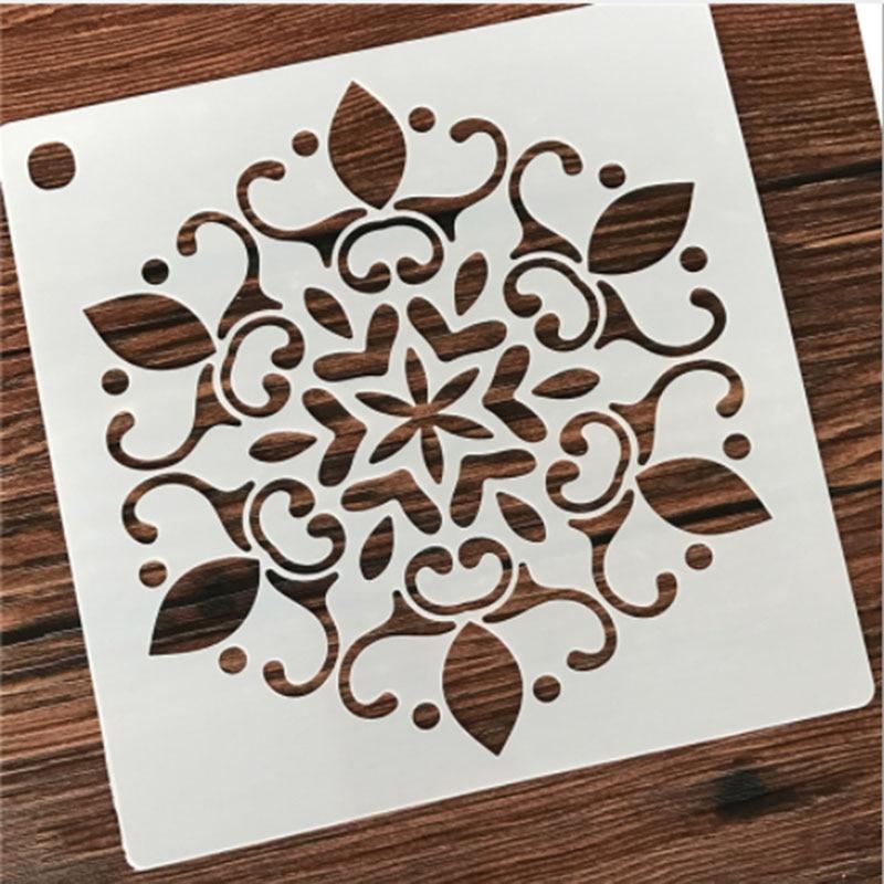 1PC Autumn Wheat Totem Flower Shaped Reusable Stencil Airbrush Painting Art DIY Home Decor Scrap Booking Album Crafts
