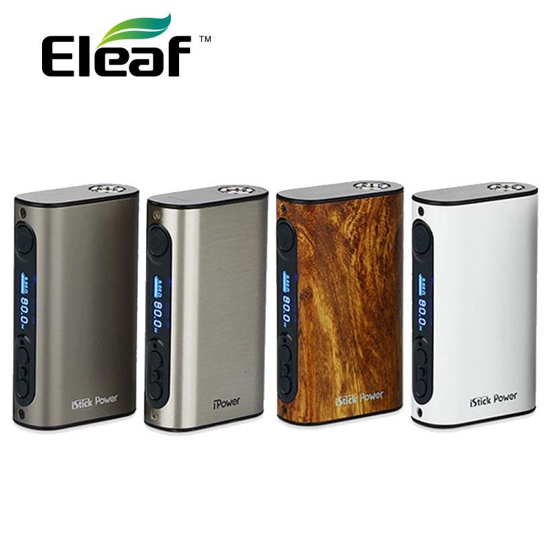 ФОТО Hot Selling ELEAF ISTICK IPOWER 80W TC Box Mod Vape 5000mAh Battery with eleaf Lyche Tank 4ml with 0.25ohm Coil/RBA head E-cig
