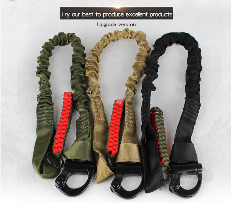 Upgrade Multi Functional CS Safety Lanyard Strap Rope Tactical Protective Sling Safety Line Climbing Rope For Outdoor Activities
